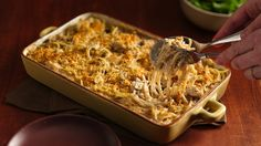 Here is an easy and creamy chicken and pasta casserole
