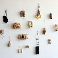 Anne Coddington Found Object Art, Art Object, Bio Art, Bamboo Art, Organic Art, Assemblage, Nature Crafts, Diy Wall Art, Installation Art