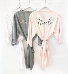 Bridesmaid Robes Personalized Bridesmaid Robes with Names - Satin Lace Bridal  Robes Bridal Party Robes Custom Name Robes (EB3260P) 140d73e50