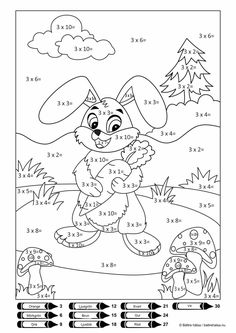 Spring Math Coloring Sheets - Spring Math Coloring Sheets, Coloring Pages Colouring In Maths Game Math Facts Easter Math Coloring Worksheets, Kids Math Worksheets, Preschool Activities, Math For Kids, Fun Math, Coloring Sheets, Coloring Books, Math Sheets, Math Multiplication