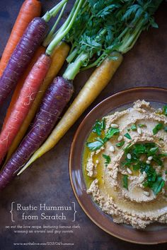 Rustic hummus made from scratch. Photo and recipe by Irvin Lin of Eat the Love. www.eatthelove.com