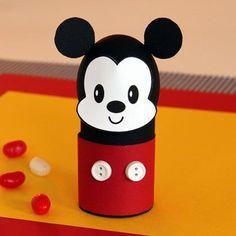 Como hacer un porta huevo de pascua de Mickey