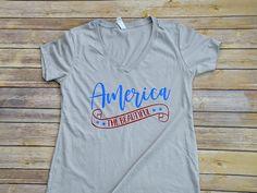 America The Beautiful shirt.  Perfect for July 4th!  #mudandlaceapparel #fourthofjuly #4thofjuly #americathebeautiful #patrioticshirt #tee #tshirt #independenceday