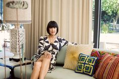 I LOVE that lamp!! Trina Turk interiors as photographed by bonnie tsang.