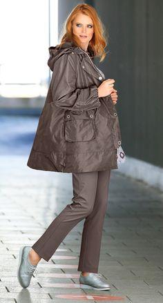 Outdoor-Jacke von selection Art. 70871529 #ullapopken #businessstyle #business #woman #mode #taupe