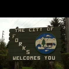 Forks, Washington (but I was there before Twilight was famous and before Forks was famous because of Twilight - so basically I went to Forks before it was cool to go to Forks)