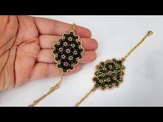 Beaded Motif Bracelet Making Jewelry Making Tutorials, Beading Tutorials, Quilting Tutorials, Beaded Jewelry, Beaded Bracelets, Peyote Bracelet, Jewellery, Diy Bags Tutorial, Earring Tutorial
