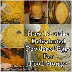 """How To Make Dehydrated Powdered Eggs For Food Storage Homesteading - The Homestead Survival .Com """"Please Share This Pin"""" Emergency Food, Survival Food, Homestead Survival, Survival Prepping, Emergency Preparedness, Survival Skills, Emergency Preparation, Egg Storage, Canned Food Storage"""