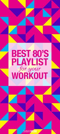 Take a stroll down memory lane and check out this 80's workout playlist!