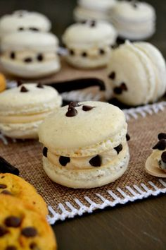 Cookie Dough Macarons have a crisp shell. And an amazing cookie dough filling.