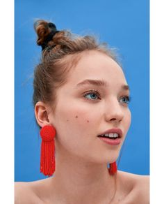 Discover the perfect piece of jewelry to add a dazzling touch to your look at ZARA online. Types Of Earrings, Seed Bead Earrings, Clay Earrings, Beaded Earrings, Statement Earrings, Earrings Handmade, Photo Jewelry, Fashion Jewelry, Fine Jewelry