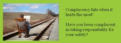Complacency hits when it hurts the most. Railroad Tracks, No Response, It Hurts, Safety, Security Guard, Train Tracks