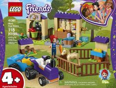 Available in: Item.Help LEGO® Friends Mia care for her foals and the bunny down at the stables. Lego Duplo, Lego 4, Buy Lego, Lego Batman, Lego Ninjago, Toy Horse Stable, Lego Friends Sets, Lego Toy Story, Farm Toys