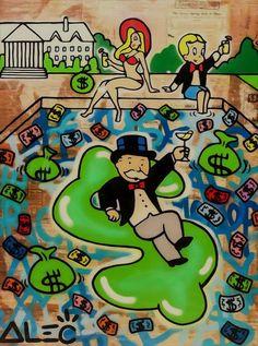 Alec Monopoly Oil Painting on Canvas graffiti artist Wall Decor Inflatable Money Graffiti Art For Sale, Graffiti Wall Art, Street Art Graffiti, Graffiti Artists, Graffiti Lettering, Disney Pop Art, Hello Kitty Art, Artist Wall, Pop Art Wallpaper