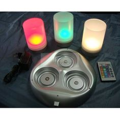 LED Rechargeable Mood Light Table Lamp (Remote Control, RGB Color Changing) [ML-CAN-R103T] - US$49.30 : ImmiTrade Global