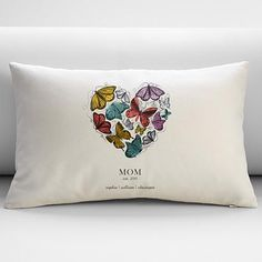 Shop RedEnvelope Personalized Butterfly Heart Rectangular Throw Pillow 8234143.