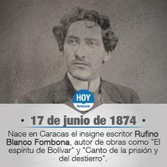 Un día como hoy, en 1874 nace en Caracas, el escritor, ensayista y político venezolano Rufino Blanco Fombona.