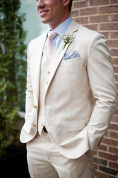 My wedding attire; J.Crew suit, Jos.A.Banks shirt, Men's Wearhouse tie, Saks Fifth handkerchief.