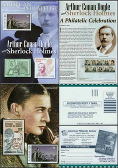 honoring the literary works of Sir Arthur Conan Doyle and his popular and beloved fictional detective character, the one and only Sherlock Holmes. Sherlock Holmes Short Stories, Adventures Of Sherlock Holmes, Dr Watson, Watson Sherlock, Sir Arthur, Arthur Conan Doyle, Detective, A Scandal In Bohemia, Postage Stamp Art