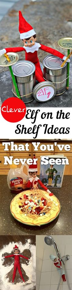 My kids absolutely love our Elf on The Shelf. I am so excited to use these clever ideas to surprise my kids every morning!