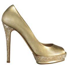 Gold  Italian Le Silla Heels...I am in LOVE!!!