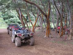 Riding ATVs through Waipio Valley on the Big Island. Now this looks like a fun boomer adventure in Hawaii! Hawaii Vacation, Hawaii Travel, Vacation Trips, Hawaii Trips, Hawaii Destinations, Kona Hawaii, Island Tour, Big Island Hawaii, Adventure Tours