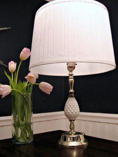 milk glass lamp - love this lamp