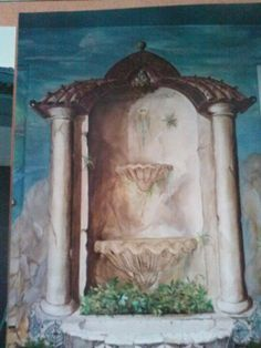 Trompe l'oeil aedicule in the style of Tibet, by Donzine Tibet, Architecture Details, Uni, Painting, Style, Deceit, Eyes, Swag, Painting Art