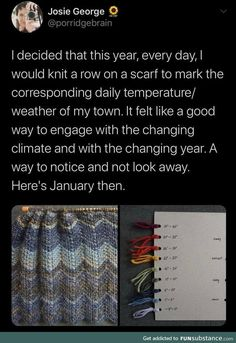 Knitting the Weather - FunSubstance Knitting Projects, Crochet Projects, Knitting Patterns, Sewing Projects, Craft Projects, Crochet Patterns, Cute Crafts, Crafts To Do, Yarn Crafts