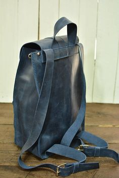 Leather backpack leather bag Leather Rucksack. leather