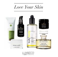 Beautiful organic, eco-friendly skincare. All products available at LUX & ECO