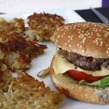 Hamburger à l'autruche et au Fol Epi