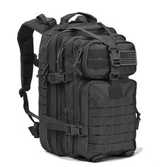 d2b260e2b98e Military Tactical Assault Pack Backpack Army Molle Waterproof Bug Out Bag  Backpacks Small Rucksack for Outdoor Hiking Camping Trekking Hunting Black  ...