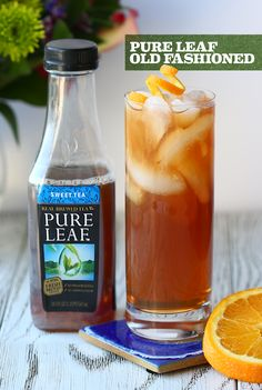 Lead the pack with our Pure Leaf Old-Fashioned at your next party. // Muddle 1/2 tsp of sugar, 3 dashes of bourbon, and a couple drops of water in the bottom of a glass. Add 1 oz bourbon and ice, then fill the glass with Pure Leaf Sweet Tea. Stir to combine and garnish with your favorite citrus peel. Brewing Tea, Beverages, Drinks, Sweet Tea, Birthday Fun, Happy Hour, Bourbon, Fill, Prepping