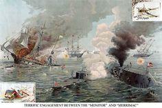 Uss Monitor, Naval History, Hampton Roads, Submarines, American Civil War, World History, Vintage Images, The Hamptons, Canvas Wall Art