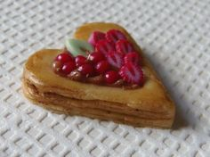 Heart Shaped Strawberry, Berry and Chocolate Tart