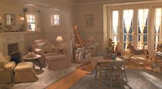 Baby Banks Nursery in Father of the Bride 2 .love fp area the 2 windows w/shabby chic chair. would love skylt above chair Dream Baby, My Dream Home, Baby Love, Baby Baby, Dream Homes, The Bride Movie, Father Of The Bride, Nancy Meyers Movies, Nursery Inspiration