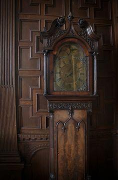 Antique grandfather clock.
