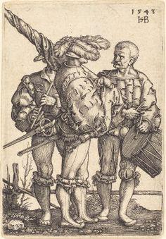 Sebald Beham  Standard Bearer, Drummer, and Piper, 1543  Rosenwald Collection  1948.11.20  NGA open access