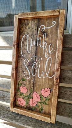 Awake My Soul- Mumford and Sons Lyrics Wooden Sign by campfireshop on Etsy