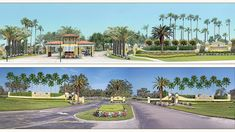 3D Rendering of community entrance upgrades