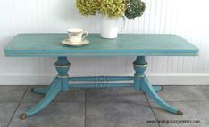 colette table_tinted_wax, USE chalk paint, accent with metalic accents and this Duncan Phyfe table does NOT look like grandma's anymore!