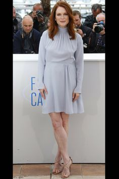 """Julianne Moore in Nina Ricci dress at the """"Maps To The Stars'"""" Photocall at the 67th Annual Cannes Film Festival."""