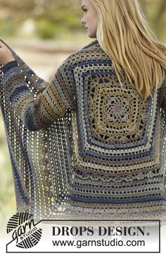 Gorgeous #crochet jacket worked in a square by #DROPSDesign. Pattern now online!