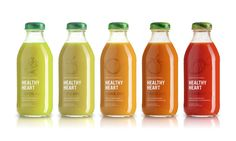 This is a designer than knows the silk printing process. Excellent use of partnering subtle ink color with product color. Healthy Heart Juice - The Dieline -