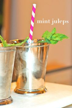 A simple Mint Julep recipe just in time for the Kentucky Derby!  [via www.thechicagolifeblog.com]