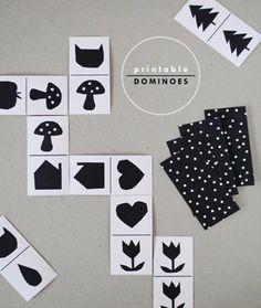 DIY free printable dominoes by handmadecharlotte #DIY #printables #kids #toys