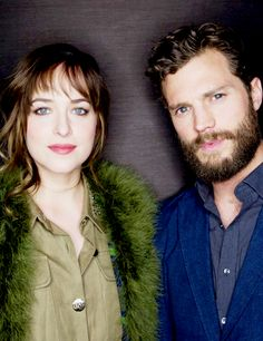 Jamie Dornan and Dakota Johnson in new outtake photo from USA Today photo shoot!! Their eyes look amazing here!!  50 Shades of Christian and Ana