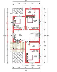 4 Bedroom Box Type Home for 30 Lakhs with Free Plan - Free Kerala Home Plans Model House Plan, My House Plans, House Layout Plans, Simple House Plans, Southern House Plans, House Layouts, House Floor Plans, Bungalow House Design, Bungalow House Plans