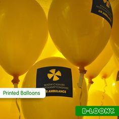 Custom Printed Balloons with Air Ambulance Logo